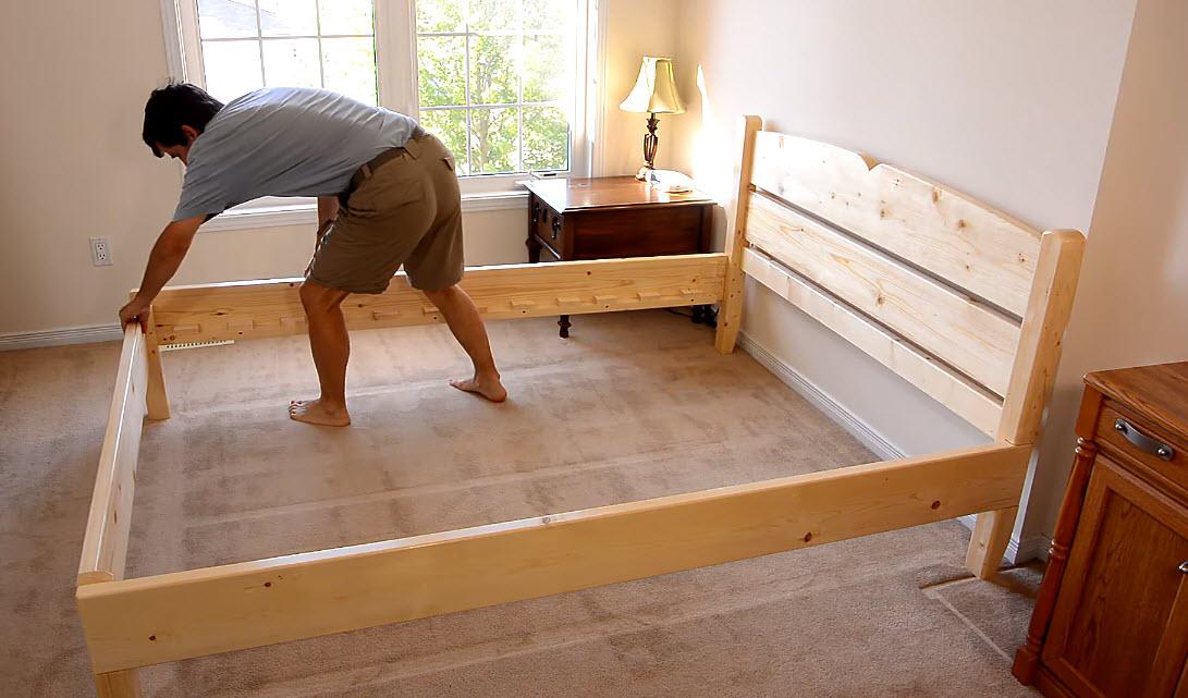 for Como hacer una cama matrimonial de madera