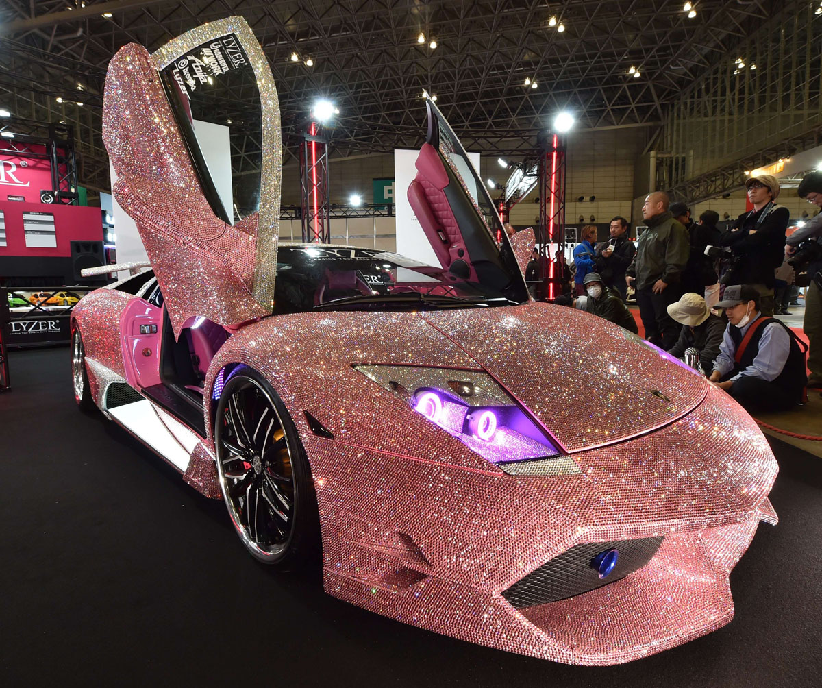 Cars Covered With Swarovski Crystals