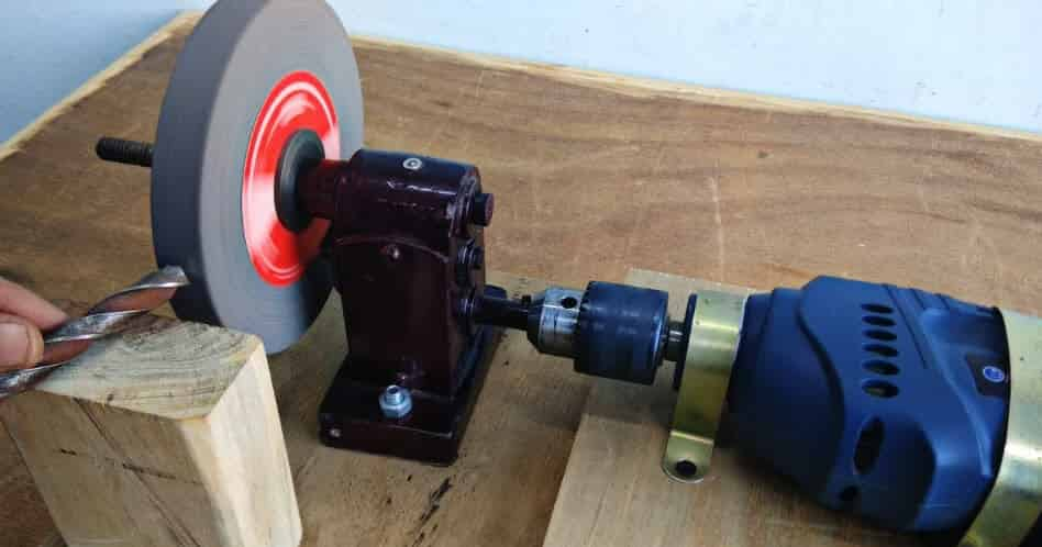 Make A Bench Grinder Using Drill