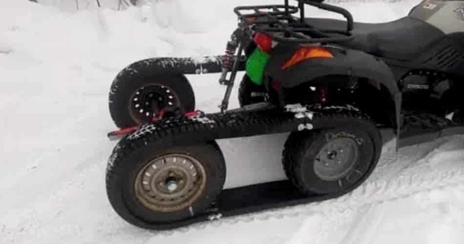 How to build homemade ATV tracks